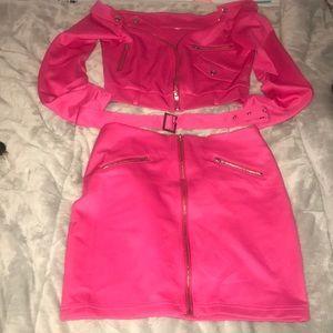Hot pink set